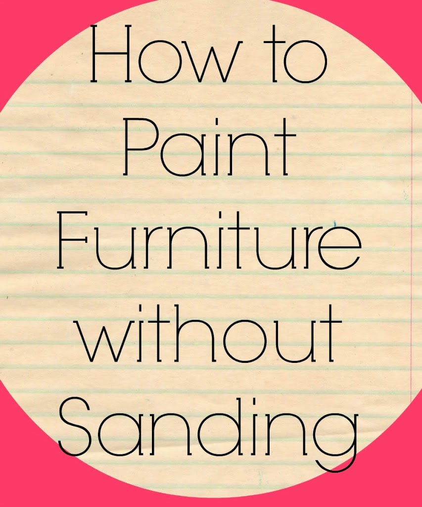 How to paint furniture without sanding - How long to paint a 3 bedroom house ...