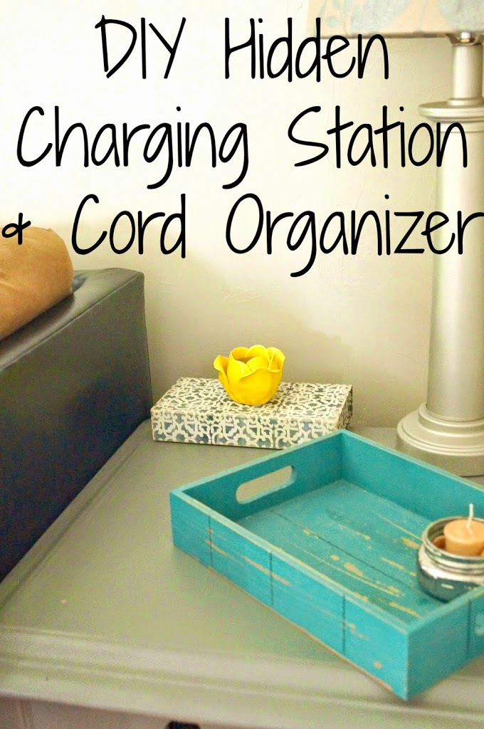 Diy Charging Station And Cord Organizer