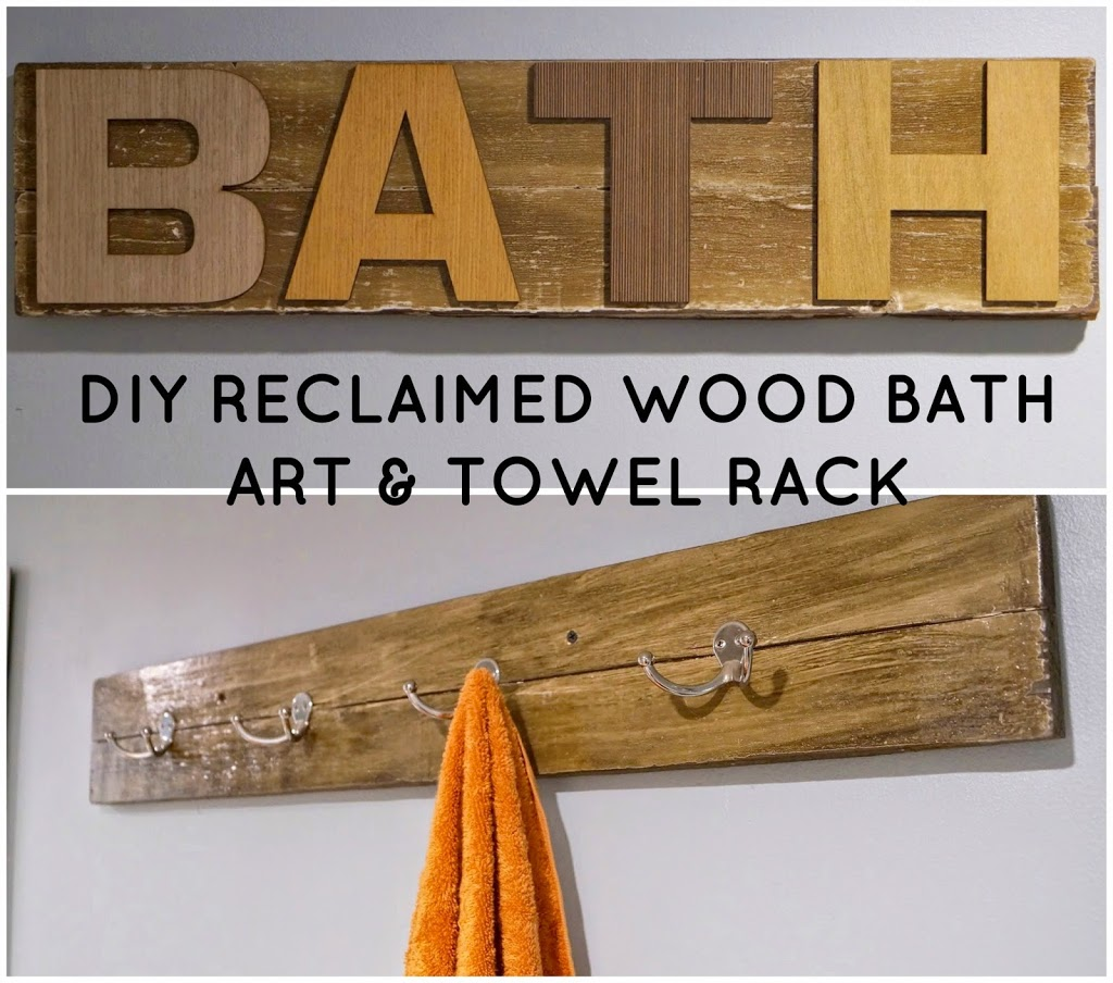 Wooden Towel Rack | Bathroom Decorating Ideas On A Budget